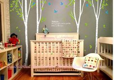 birch trees decalswall decals nature wall decals by DreamKidsDecal, $75.00- fun wall decals for nursery, can choose colors