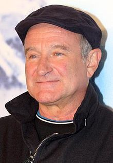 Robin Williams. Rest in peace, dear heart. (We must never forget that depression kills. rw)