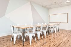 Rent meeting space at 374 Brannan St., Floor, Room 3 daily or hourly with Breather. Book office space in South Beach. Interior Design Work, 2nd Floor, San Francisco, Dining Table, Flooring, Chair, Room, Inspiration, Furniture