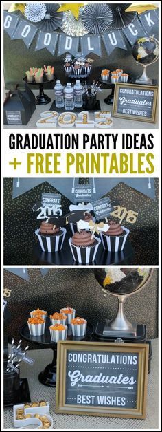 Awesome gaduation Party Ideas + Free Printables | CatchMyParty.com