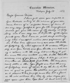Abraham Lincoln to George G. Meade, Tuesday, July 14, 1863 (Meade's failure to pursue Lee)
