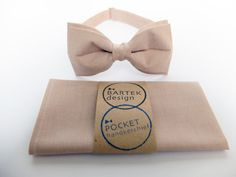 Men's Wedding Set Pre Tied Bow Tie and Pocket by BartekDesign, €32.00