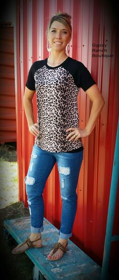 b587f9452af Gypsy Ranch Boutique -Apparel Sizes Small-3X   Exciting Accessories. Living  On the Edge Leopard Top - Also in Plus Size
