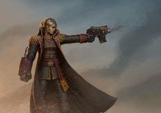 Explore the Warhammer collection - the favourite images chosen by TheMailmon on DeviantArt. Warhammer Imperial Guard, 40k Imperial Guard, Fantasy Characters, Female Characters, Character Art, Character Design, Rogue Traders, Warhammer 40k Art, Warhammer Models