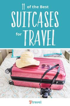 Looking for a new suitcase? Here is a short list of 11 best suitcases for travel. On the list are hard and soft shell suitcase brands, spinners, two and four wheels, luggage sets and more. Packing List For Travel, Travel Tips, Packing Tips, Travel Destinations, Big Suitcases, Suitcase Bag, Business Travel, Holiday Travel, Travel With Kids