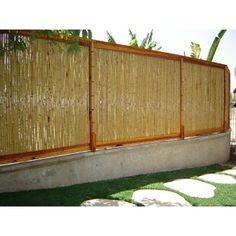 Backyard X-Scapes 8 ft. W Rolled Bamboo Fence Panel Garden Fence Panels, Diy Fence, Fence Ideas, Garden Ideas, Fence Art, Porch Ideas, Patio Ideas, Backyard Ideas, Bamboo Wall