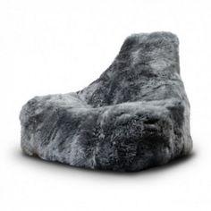Grey Sheepskin Beanbag - View All Soft Furnishings - Soft Furnishings - Sofas…