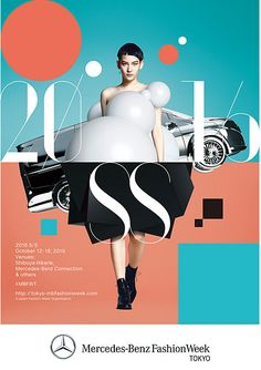 Mercedes-Benz Fashion Week S/S 2016 key visual - graphic design - The creative & art direction and graphic design work for the key visual was undertaken by Masanori Sakamoto Fashion Graphic Design, Japanese Graphic Design, Graphic Design Posters, Graphic Design Typography, Graphic Design Inspiration, Gfx Design, Layout Design, Design Art, Print Design