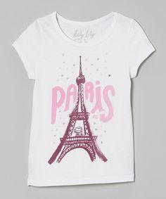 Loving this White 'Paris' Tee - Toddler & Girls on #zulily! #zulilyfinds
