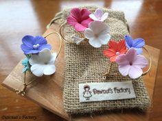 handmade clay flower brooches