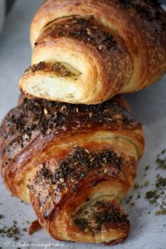 croissants with zatar. reminds me of my time in jeddah.