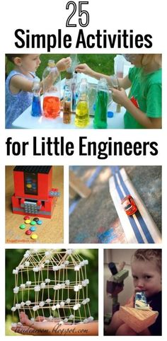 Do you have a budding engineer in the family? Check out these 25 simple activities for little engineers! #5 is my favorite! mylifeandkids.com...