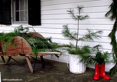 porch decorating for winter