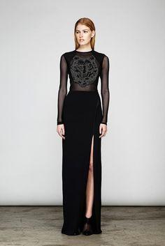 Yigal Azrouel Resort '14 #fashion #couture #black #dress #transparant