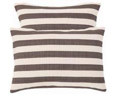 Trimaran Charcoal Stripe Indoor/Outdoor Pillows