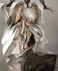 Abused anime boy Touken Ranbu