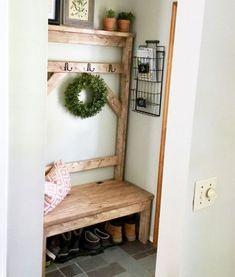 Ideas Hallway Storage Ana White For 2019 Farmhouse Furniture, Furniture Plans, Diy Furniture, Luxury Furniture, Retro Furniture, Furniture Design, Reclaimed Wood Benches, Diy Wood Bench, Ana White