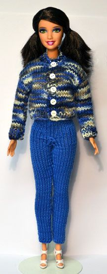 http://www.stickatillbarbie.se/Home.htm The Home Page of this site has many knitting patterns for fashion dolls. Follow the on-site directions to get the downloads in the language of your choice.