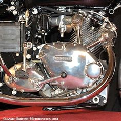 The Art of the Vincent Motorcycle Engine: a 360-degree tour of Black Shadow cutaway engine.  Eye-popping Pictures & more...