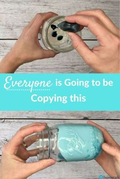 Check out this gorgeous DIY mason jar decor that everyone is going to be copying! This is so easy!