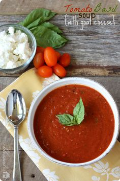 Tomato Basil Soup   MyBlessedLife.net