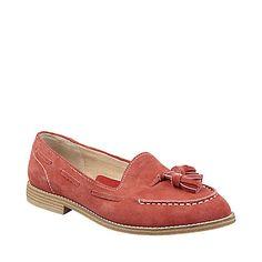 Burnt orange loafers!
