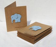 Baby Shower Thank You Cards - Baby Thank You Cards - Blue Elephants -Thank you Cards - Blue Thank You Cards - 10