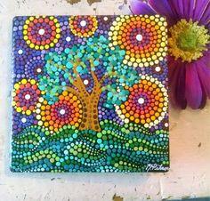 Azulejo de cerámica Árbol de caprichosa Pintado a mano por Pitrone Miranda  Tamaño  aprox. b66e0a599a5