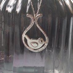 Pretty sterling silver bird pendant. Lovely gift for Christmas.