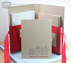 Homemade gift - packaging cards with Market Street Stamps by Amy Kolling. Love this!