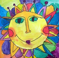 Check out student artwork posted to Artsonia from the Watercolor Suns project gallery at Fredon Township School.