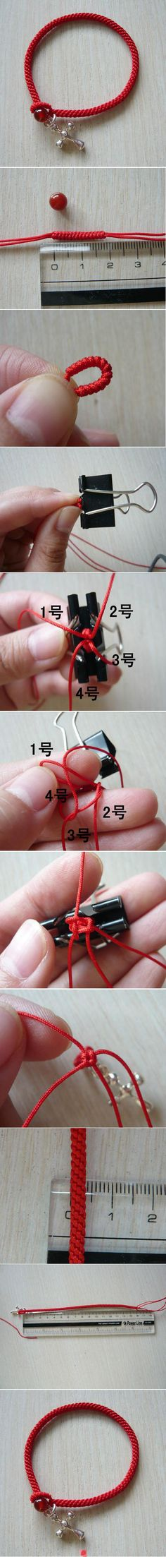 Can use my kumihimo disk to make this. Cute!