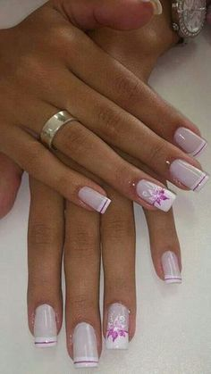 Best Beauty Nails Part 2 Fabulous Nails, Gorgeous Nails, Pretty Nails, Hot Nails, Pink Nails, Hair And Nails, Pink French Manicure, Elegant Nails, Fancy Nails
