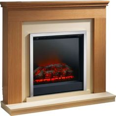 Durham Electric Fire Suite - Natural Oak