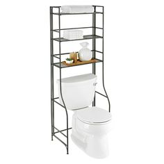 Enjoy free shipping on all purchases over $75 and free in-store pickup on the Iron Folding Bath Etagere at The Container Store. Clean lines and minimal design give our Over-the-Tank Bathroom Etagere the power to stand alone and blend in at the same time. When not in use, the shelves can be folded flat to accommodate moving and tight storage spaces.