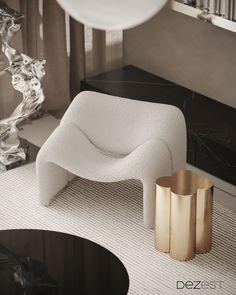 Furniture Inspiration, Interior Inspiration, Minimalist Furniture, Sofa Furniture, Armchair, Calm, Interior Design, Modern, House