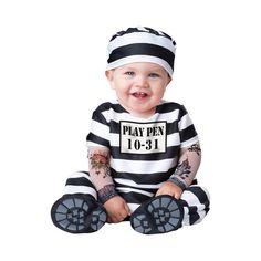 INCHARACTER COSTUMES REF: 16015 PRESO BEBE - Incluye traje especial para que cambies el pañal de tu bebe fácilmente y botines antideslizantes, mangas con tatuajes y sombrerito. PRECIO COLOMBIA: 115.000