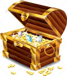 Buy Opened Treasure Chest with Treasures by on GraphicRiver. Opened treasure chest with treasures photo realistic vector Zip file includes: - editable vector, RGB - jpg, Treasure Boxes, Treasure Chest, Pirate Treasure, Deco Pirate, Pirate Theme, Chinese Auction, Win For Life, Gold Money, Free Anime