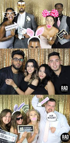 Sassy Photo Booth for Weddings Around Toronto. Here's how our GOLD sequin backdrops look like!
