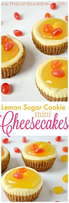 Make a delicious and simple Easter dessert idea with these Lemon Sugar Cookie Mini Cheesecakes!