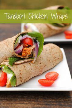 Tandoori Chicken Wraps - tandoori-marinated chicken wrapped up with a ...