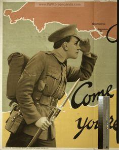 Examples of Propaganda from World War One, First World, Ww1 Propaganda Posters, Hetalia England, Wwii, Literature, British, History, Summary
