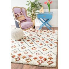 nuLOOM Sot and Plush Moroccan Variations Rainbow Trellis Shag Multi Rug (8' x 10')   Overstock.com Shopping - The Best Deals on 7x9 - 10x14 Rugs