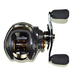 Fishing Reel - Fishing Baitcasting Reel 18 BB Ball Bearings Double Brake System Left/Right Hand Casting