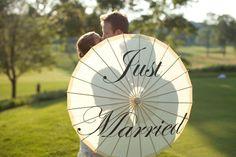 fun chinese umbrella #weddings #details The Tres Chic Bride