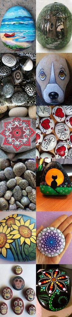 Painted Rocks Ideas and Inspo                                                                                                                                                     More