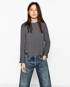 Image 2 of CHECKED TOP from Zara