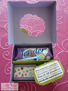 Süße Idee auch als Postgeschenk für ein verreistes Geburtstagskind :) ~ Geburtstagskuchenbausatz