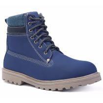 Sapato Coturno Bota Azul Marinho Masculino Adventure Social