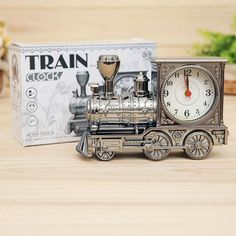 Retro Train Office Desk Alarm Clock